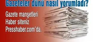 Gazete manşetleri 25 Ocak 2015