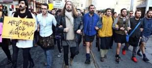 Etekli erkekler Özgecan Aslan için yürüdü