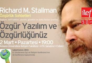 Özgür yazılımın öncüsü Richard Stallman Ankara'da