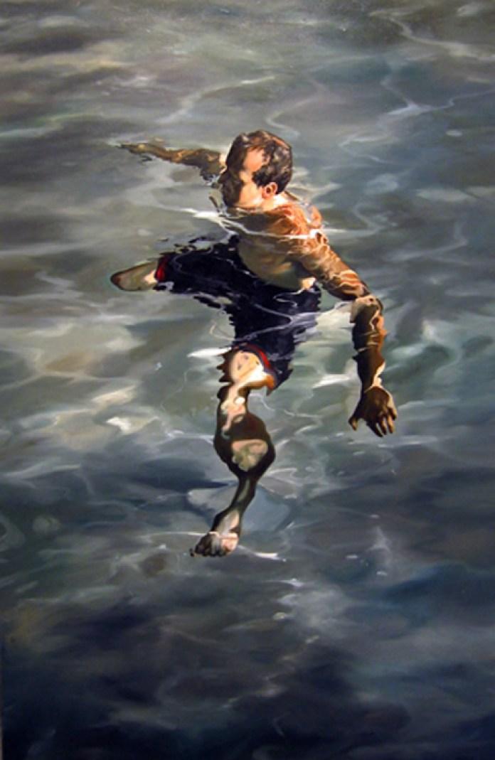 man treading water,57x37,2004,highres