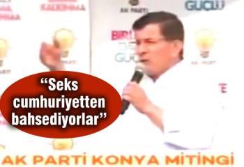 """Başbakan Davutoğlu'na """"SanaSeksYaptırmayacağız"""" tagı"""