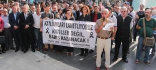 Ankara'daki katliam birçok yerde protesto edildi