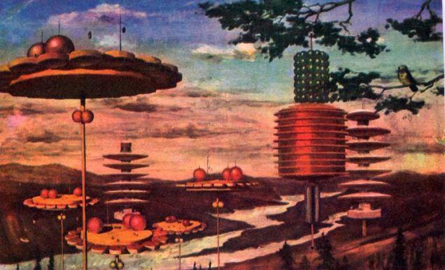 sovyet sanatçıları, uzaydaki yaşam, komünist yaşam, sovyetler birliği,