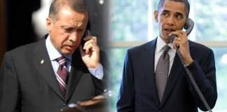 obama erdoğan telefon görüşmesi