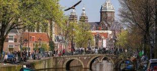 Kanallar ve köprülerin şehri Amsterdam