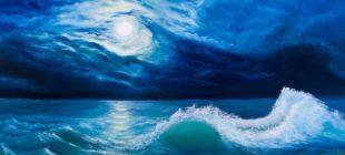 Terazi burcunda mavi Dolunay