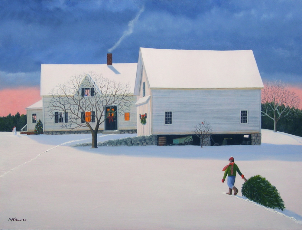 Maine Artist Paints Cards For Causes The Portland Press