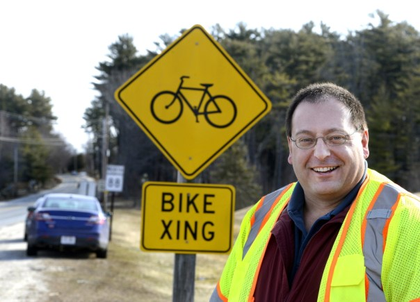 Patrick Adams took over as the bicycle and pedestrian program manager at the Maine Department of Transportation in December. John Patriquin/Staff Photographer