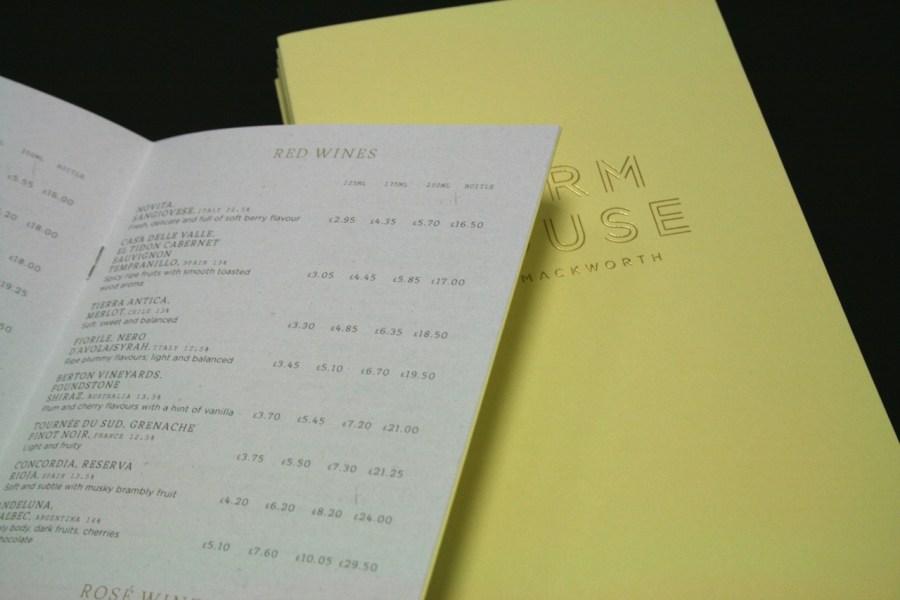 farm house menu's
