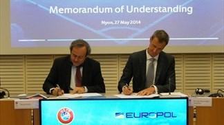 Uefa ed Europol unite contro le scommesse e la criminalità nel calcio