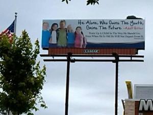 Negli USA un cartellone pubblicitario che ha provocato scandalo