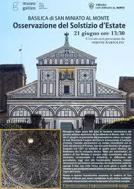 Basilica di San Miniato al Monte e l'osservazione del solstizio d'estate