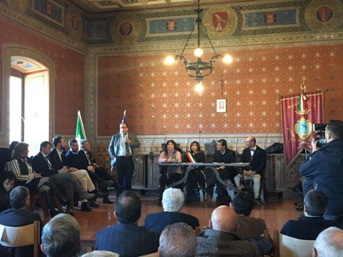 Il Ministro alla politiche agricole e turismo Gian Marco Centinaio in visita a Montefalco