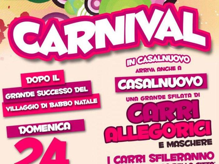 A Casalnuovo il 24 febbraio il primo Carnevale con grandi carri allegorici