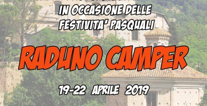 A Pergola, uno dei borghi più belli d'Italia, raduno camper per le festività di Pasqua
