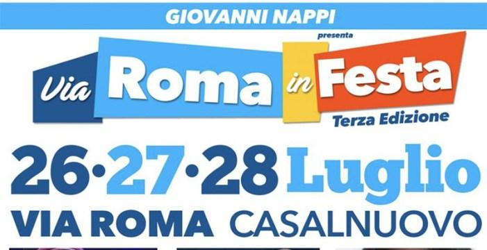 """A Casalnuovo arriva """"Via Roma in Festa"""""""