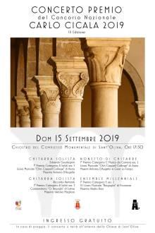 Concerto Premio del Concorso Nazionale Carlo Cicala 2019-locandina