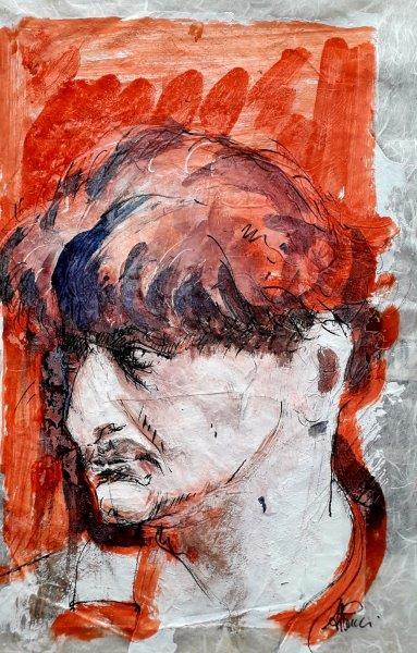 Andrea Pucci, Lorenzo Viani, inchiostro su carta di riso cm 45x35