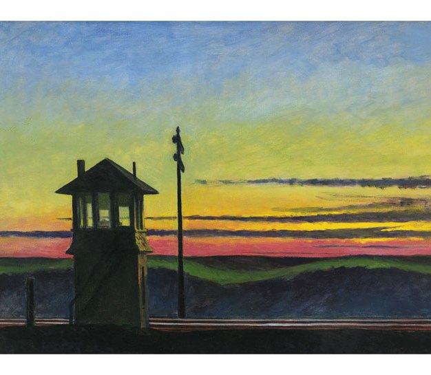Edward Hopper - Railroad Sunset, 1929 Olio su tela, 74.5 x 122.2 cm Whitney Museum of American Art, New York; Josephine N. Hopper Bequest