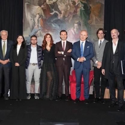 Giacomo Garau con tutti vincitori del Premio Artis Suavitas 2020 - Foto di Giuseppe Antino