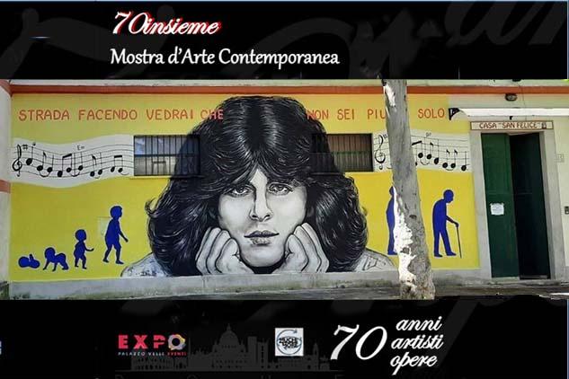 Dai fans un murales per Claudio Baglioni. Un omaggio a colui che con la sua musica ha accompagnato intere generazioni