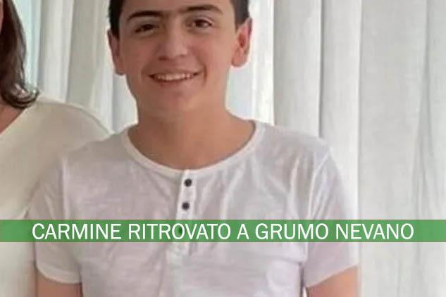 Sant'Antimo. Carmine, il ragazzo scomparso stamani, è stato ritrovato a Grumo Nevano.