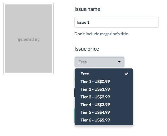 pricing tiers menu