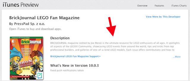 Brickjournal - digital magazine app