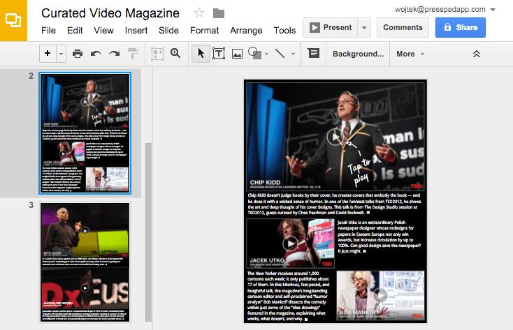 Editing video magazine