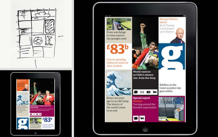 the design development of The Guardian iPad app