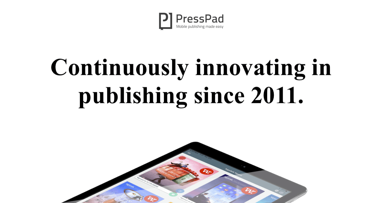 Innovating digital publishing since 2011