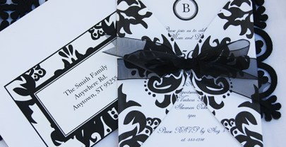 Black Damask Printables for an Elegant Party