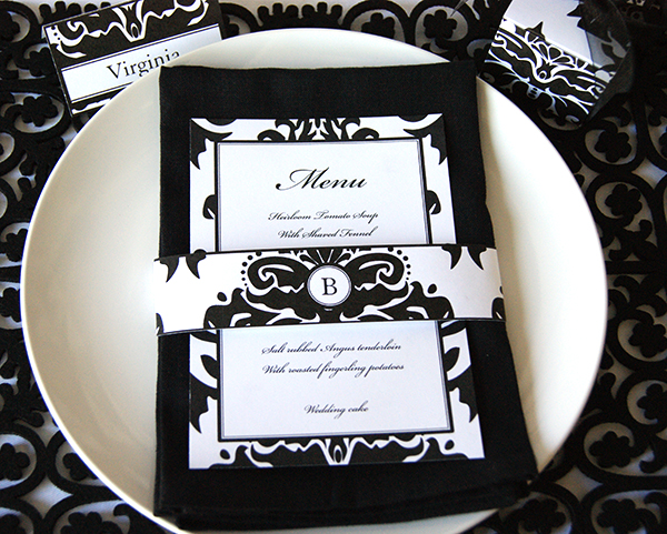 Black-Damask-Menu-Card