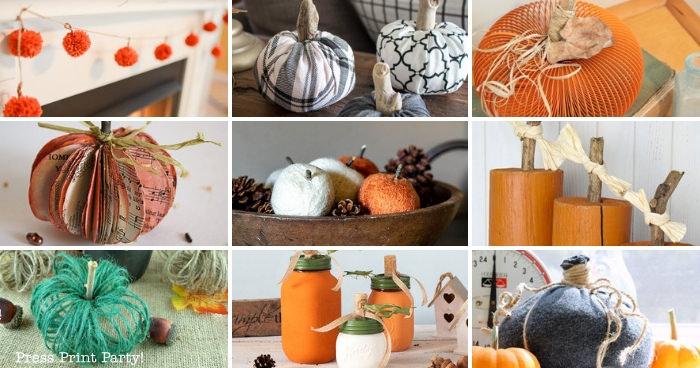 pumpkin craft Ideas w full tutoiriala -Press Print Party!
