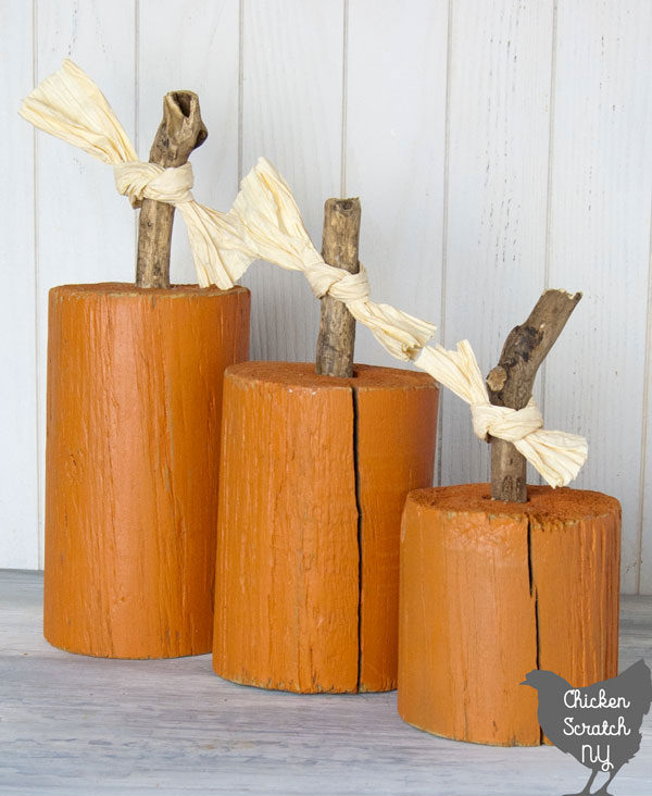 Pumpkin craft ideas -wood