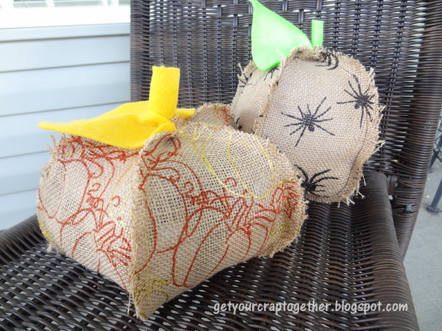 Pumpkin craft ideas -burlap