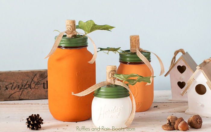 Pumpkin craft ideas mason jars