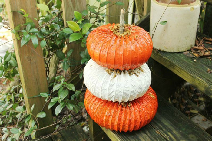 Pumpkin craft ideas -dryer vent
