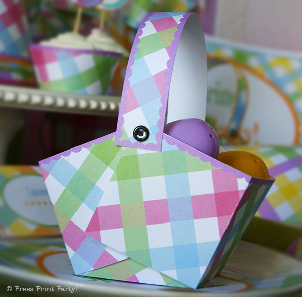 Spring Gingham Printables for Easter by Press Print Party! Printable baskets