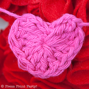 Crochet Heart by Press Print Party!