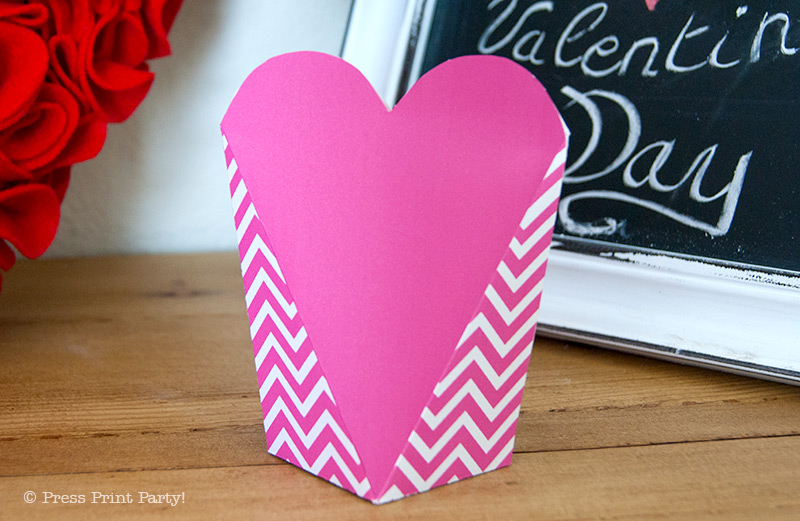 Free Valentine's day printable heart boxes - Press Print Party!
