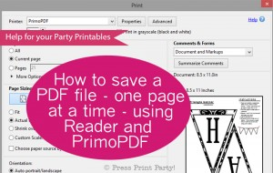 Saving a PDF file one page at a time for printales - Press Print Party!