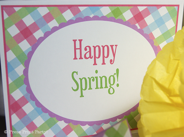 Spring Gingham Printables for Easter by Press Print Party! Sign