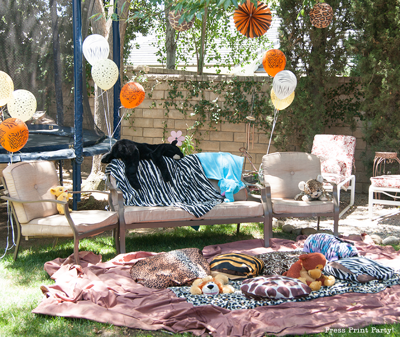 Safari Party Printables - African animal prints - by Press Print Party!