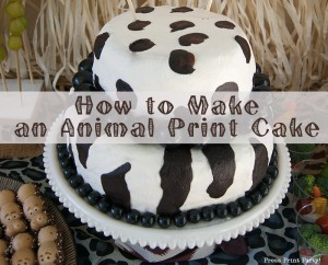 How to make an animal print cake by Press Print Party! Zebra Cake - Leopard Cake
