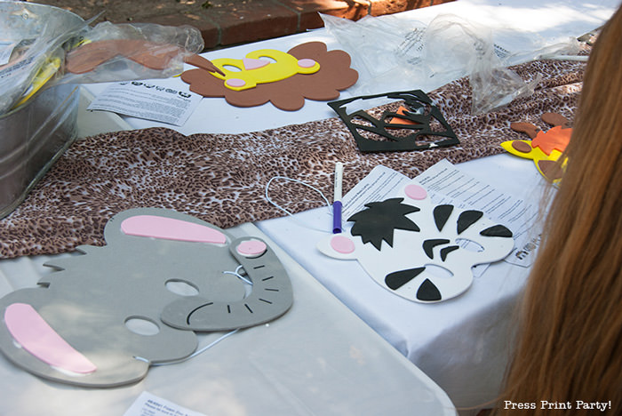Get Wild african Animal party Safari theme Party Printables - Press Print Party! animal masks