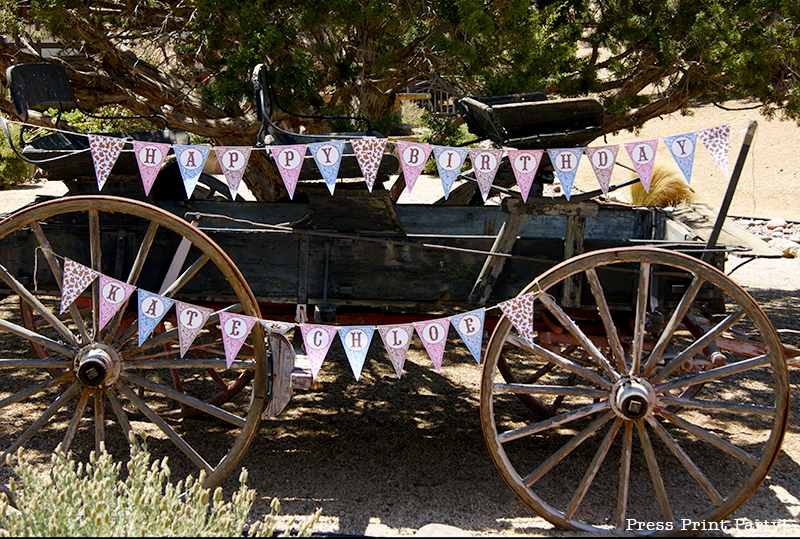 Country Cowgirl Western Party by Press Print Party! Printable Banner