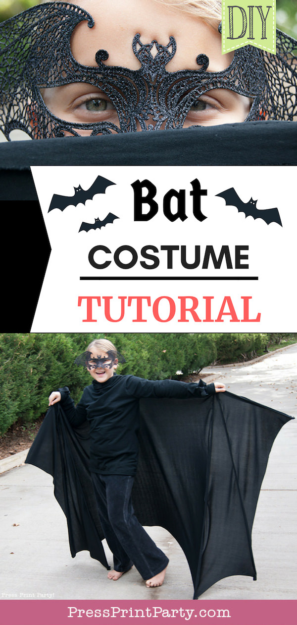 Bat costume tutorial pin - Press Print Party!