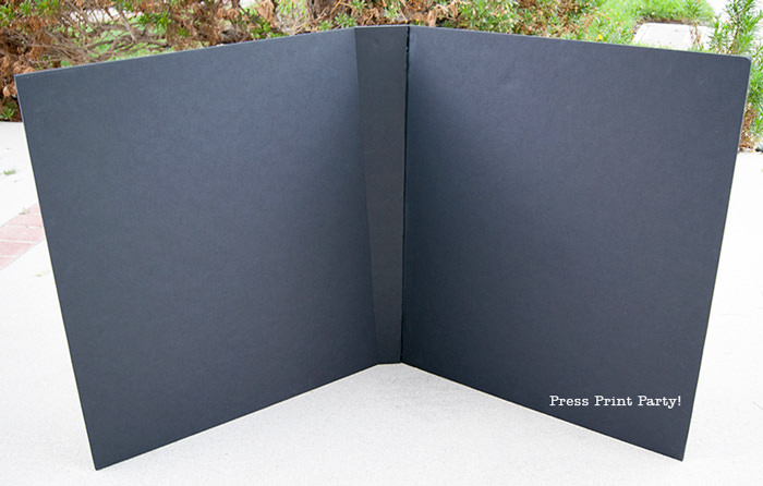 Black foam board for butterfly costume DIY - Press Print Party!