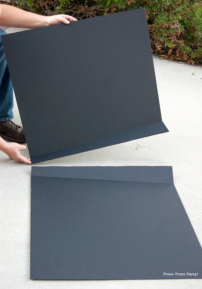 Black foam board for butterfly costume DIY - Press Print Party!